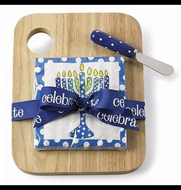 Mud Pie Hanukkah Wood Cutting Board Set