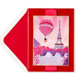 PAPYRUS® Valentine's Day Cards Hot Air Balloon Over Paris Eiffel Tower