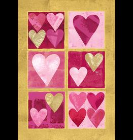 Caspari Valentines Day Card Wife Red Hearts Valentine Card