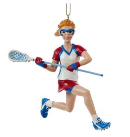 Kurt Adler Lacrosse Player Girl Ornament