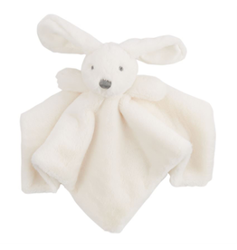 Mud Pie Plush Bunny Woobie White 11x6 Inch