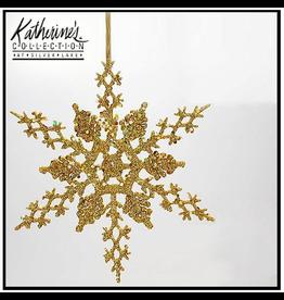 Katherine's Collection Gilded Snowflake Christmas Ornament Single