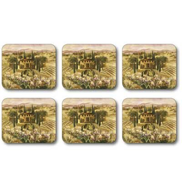 Jason Tuscan Landscape Coasters Set of 6 D2294
