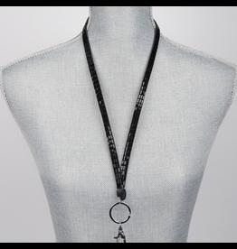 Jacqueline Kent Jewelry Crystal Bling Lanyard Black Crystal JKLY007BK Jacqueline Kent Jewelry