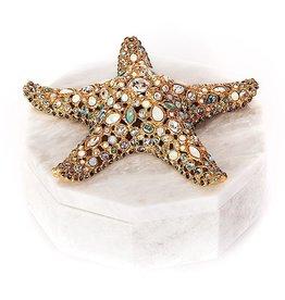 Jay Strongwater Charlene Starfish Box Marble 8.75Dx5.25T
