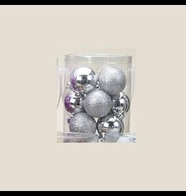 Kurt Adler Silver Shatterproof Ball Ornaments Shiny and Glittered Set of 32