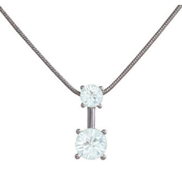 Annaleece Necklace Sweet Water Blue Rhodium Pendant with Crystals