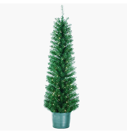 Kurt Adler Christmas Tree Pre-Lit 5 FT Potted Tree with Clear lights