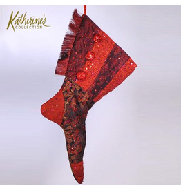 Katherine's Collection Red Tapestry Christmas Stocking 27 inch
