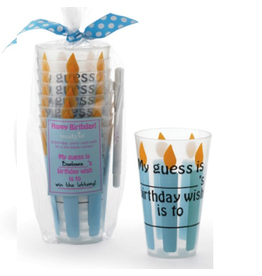 Mud Pie Birthday Party Cups w Fill In Blanks Set of 8.