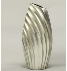 Artmax Silver Contemporary Vase 23 inches