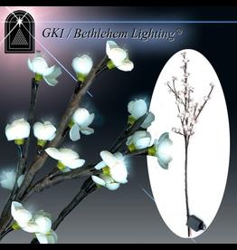GKI Bethlehem Lighting Flowers Lighted LED Blossom Branch White