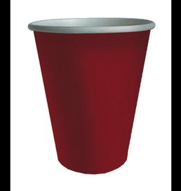 Caspari Paper Cups Caspari 6014CP Red Grosgrain Cups