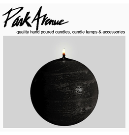 Park Avenue Candles Textured Ball Sphere Candle Black 3Dia