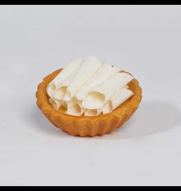 K&K Interiors Fake Display Food 10204B Small White Chocolate Chip Tart 4 in.