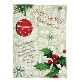 Peking Handicraft Happy Christmas Towel Just for You at Christmastime Kitchen Towel