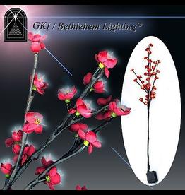 GKI Bethlehem Lighting Flowers Lighted LED Blossom Branch Red