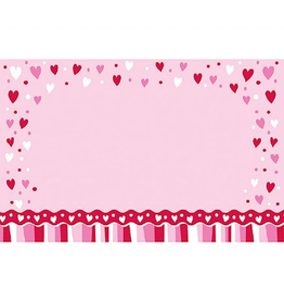 Burton and Burton Enclosure Card 2.25x3.5 inch Hearts and Stripes Card