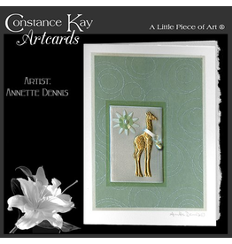 Constance Kay Art Card New Baby Giraffe with Pacifier by Constance Kay