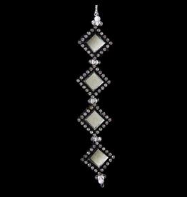 Kurt Adler Black and Silver Gemstone Ornament Square D1815-A Kurt Adler
