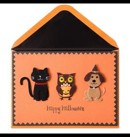 PAPYRUS® Halloween Card Handmade Cat Owl Dog Happy Halloween