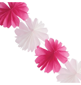 Party Partners Tissue Flower Garland 84L inches Magenta by Party Partners