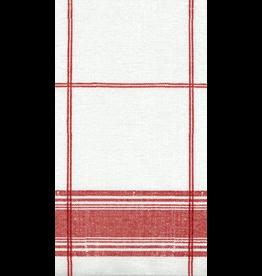 Caspari Paper Belgian Linen Airlaid Guest Napkins Caspari Red