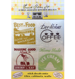 Funmade Kitchen Art 12 Self Adhesive Decals - Diner Signs