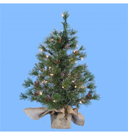 Kurt Adler Christmas Trees Pre-Lit 24 inch Silver Tip Pine Tree TR2284