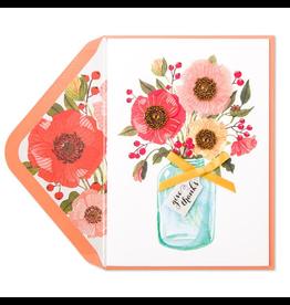 PAPYRUS® Thanksgiving Card Fall Floral in Mason Jar