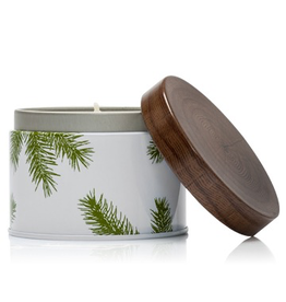 Thymes Frasier Fir Poured Candle 6.5oz Tin Pine Needle Design