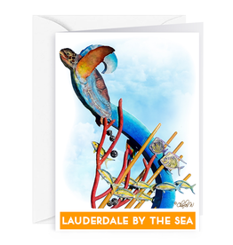 Charles W Blank Note Gift Card Holder Lauderdale-By-The-Sea Sculpture