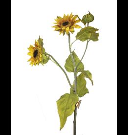 Winward Sunflowers Spray - Artifical Flowers Sun Flower Stem 30 inch