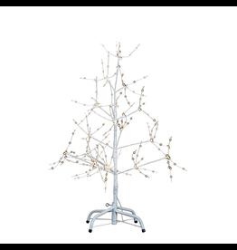 Kurt Adler White Bark Christmas Tree 36 Inch WW LED Fairy Lights