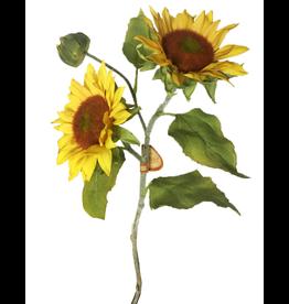 Winward Sunflowers Spray - Artifical Flowers Sun Flower Stem 18 inch