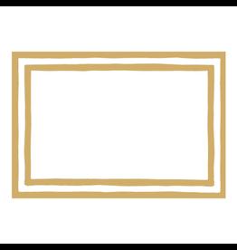 Caspari Table Place Cards 8pk Stripe Border Gold Foil