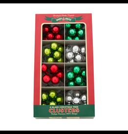 Christopher Radko Shiny Brite Holiday Splendor Ornaments Clusters 1 inch