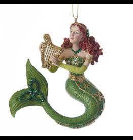 Kurt Adler Ireland International Mermaids Ornament 6 Inch Irish Mermiad