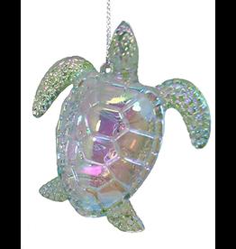 Kurt Adler Iridescent Acrylic Sea Turtle Ornament