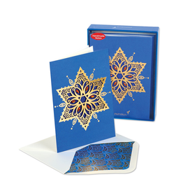 PAPYRUS® Boxed Chanukah Cards Handmade Star of David 8pk