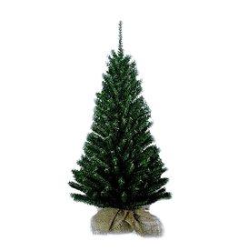 Kurt Adler Christmas Tree 24 inch Mini Pine w Round Wooden Base in Burlap