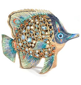 Jay Strongwater Weston Butterfly Fish Figurine 8x6x5