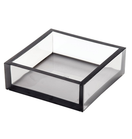 Caspari Lucite Acrylic Luncheon Napkin Holder - Smoke