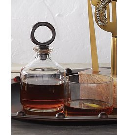 Mud Pie Stacked Glass Decanter Set