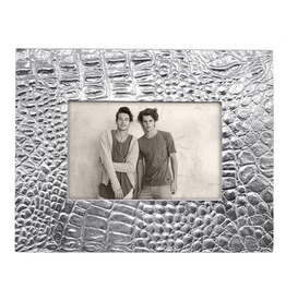 Mariposa Croc Photo Frame for 4x6 Photo Textured Crocodile Skin Pattern