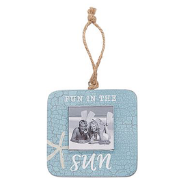 Mud Pie Small Hanging Beach Photo Frame w Fun In The Sun