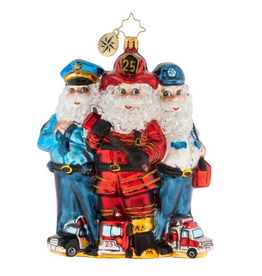 Christopher Radko 2019 St. Nick First Responders Christmas Ornament
