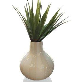 Happy Home Beige Stripes Vase 10x10 Floor Sample