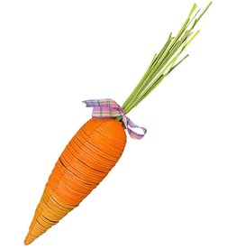 Digs Carrot Decoration Large Rattan 2 Tone Carrot 24L inches