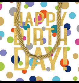 Caspari Happy Birthday Gift Bag 5x4x5